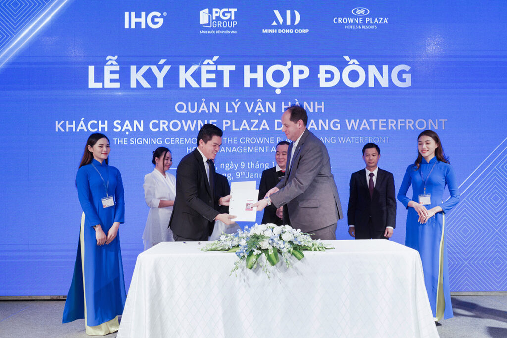 Crowne Plaza Danang Waterfront Signing | Travels and Culture Asia
